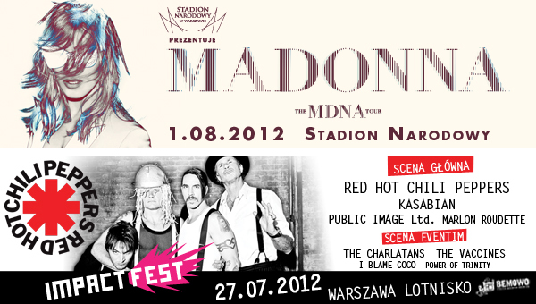 Madonna Red Hot Chili Peppers