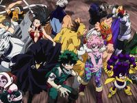 Bohaterowie anime Boku no Hero Academia