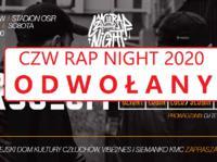 Impereza odwołana Festiwal CZW RAP NIGHT 2020 nie odbędzie się w tym roku!